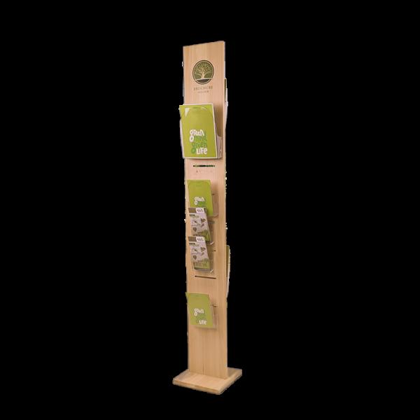 Prospektständer aus Holz Dacapo Wood
