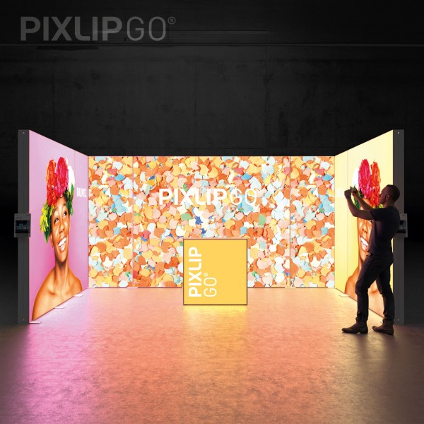 LED Messeset PIXLIP GO RL5030 - Reihenstand 5 x 3 m