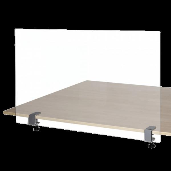 Hygieneschutzwand für Schreibtisch (mit Schraubklemmen)