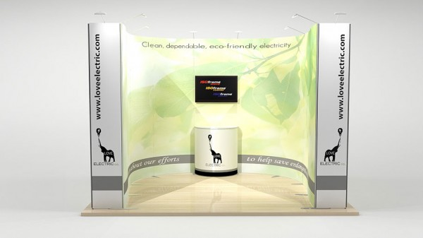 Messestand flexibel 3x3m