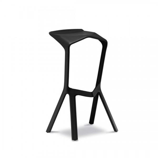 Design Barhocker Miura - schwarz
