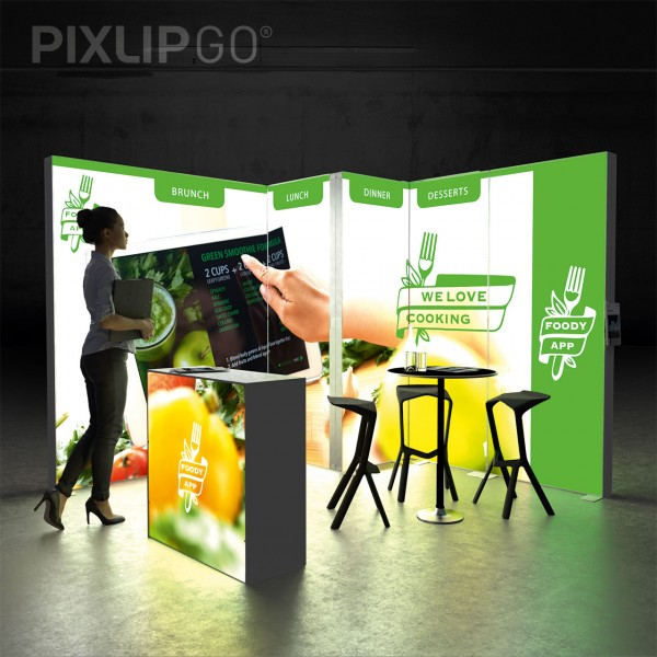 PIXLIP GO STAND CL3030 - LED MESSESET