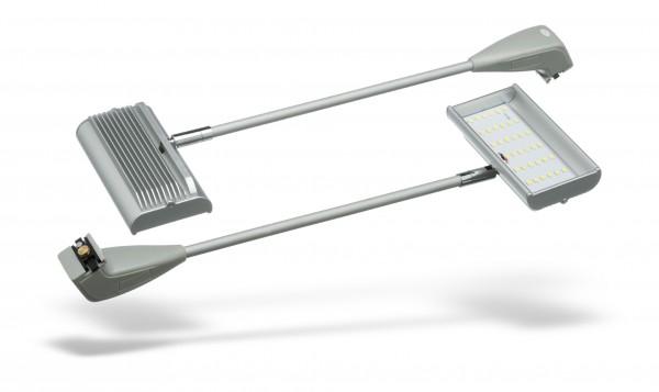2x LED-Langarmstrahler