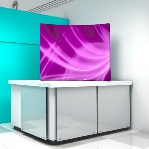 WindScape - gebogene Rückwand als Tischaufsatz