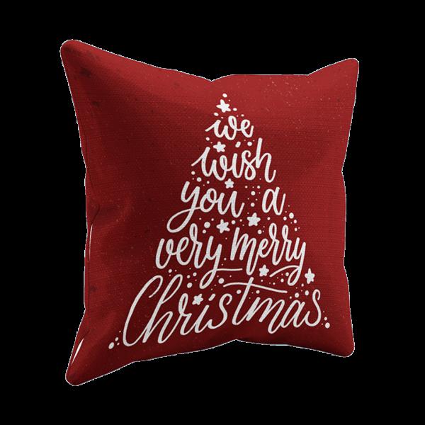 Kissen mit Weihnachtsdruck