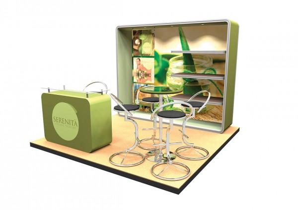 Design-Messestand 3x3 m PremiumFrame B4