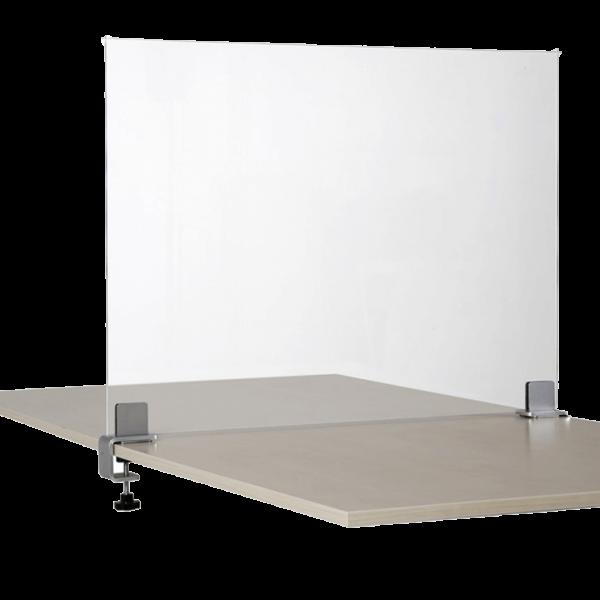 Schreibtisch Trennwand mit Schraubklemmen
