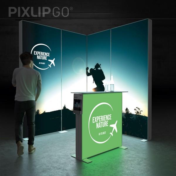 LED Messeset PIXLIP GO STAND ES2020 - Eckstand 2 x 2m