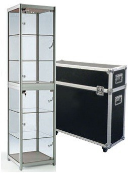 Messevitrine Pro mit Transportcase