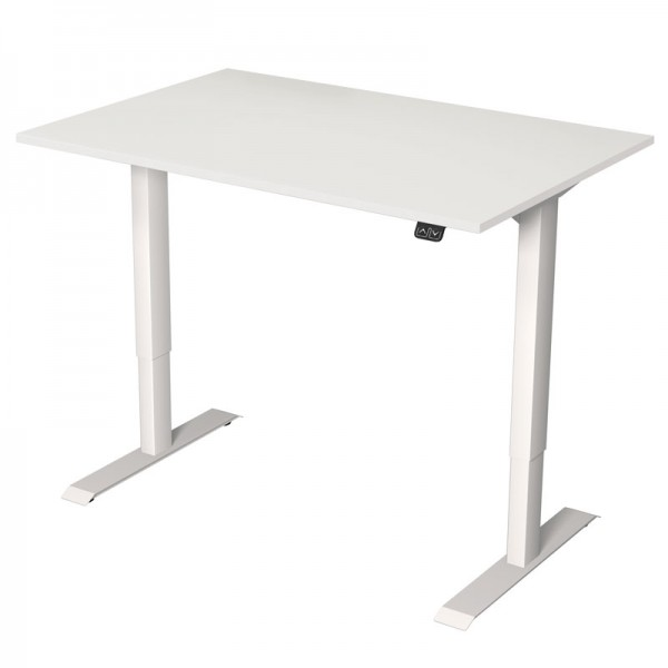 Steh-Sitz-Tisch 120x80 weiss