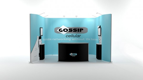 Flexibler Messestand 4x3m