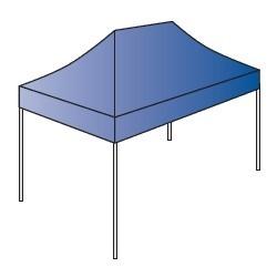 ECOtent Zeltgestell Serie 30 - 4,5x3,0 m