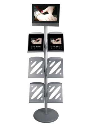 Prospektständer mit LCD Halterung