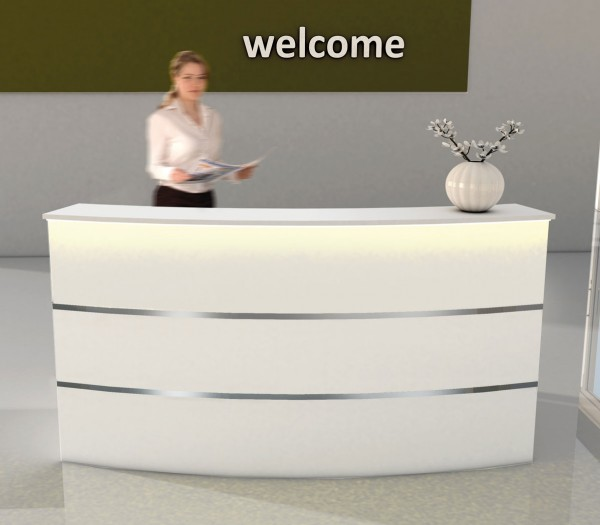 Design Empfangstheke mit LED-Beleuchtung
