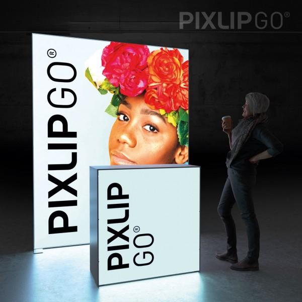 LED Messeset PIXLIP GO HL20 - Kopfstand 1,5 x 2 m