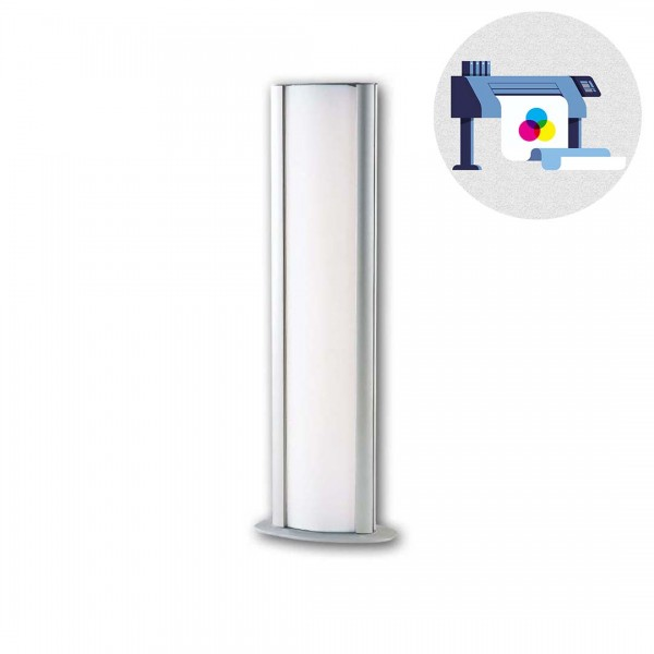 "Nachdruck LED Werbepylone ""HM-Lightstand"" 23,7 x 124 cm"