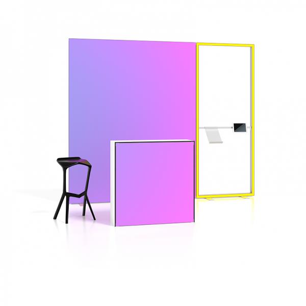 LUMAXX POP STUTTGART mit Counter und Leuchtkontur