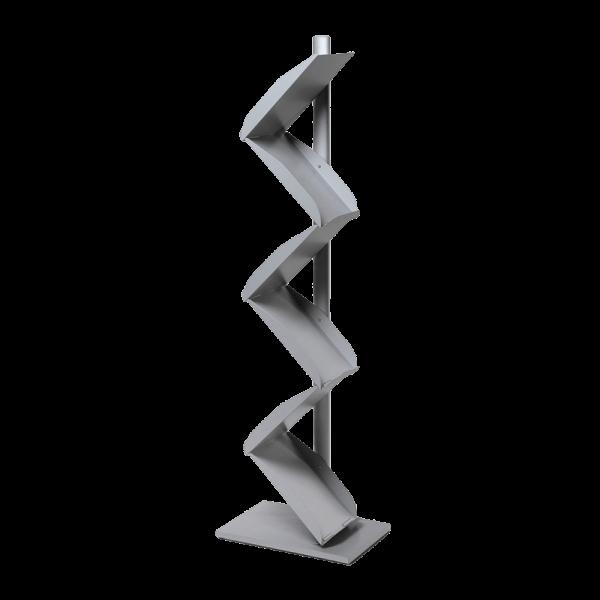 Metall Prospektständer (A4, Aluminium)