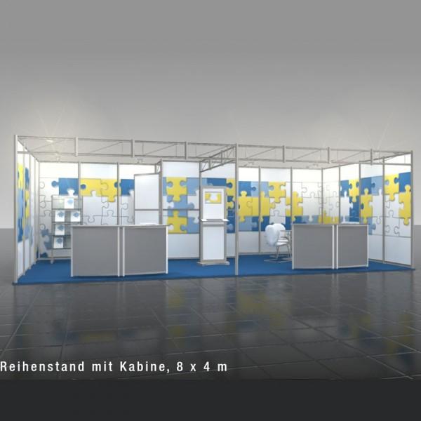 OctaQuick Reihenstand mit Kabine (8 x 4m)
