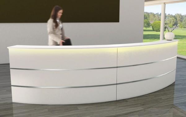 Design Empfangstheke gebogen mit Beleuchtung
