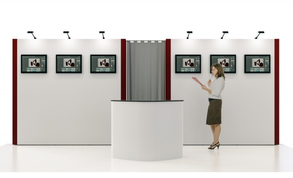 Mobiler Messestand 6x3 TV