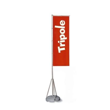 TriPole Fahnenmast mit Werbefahne (mobil)