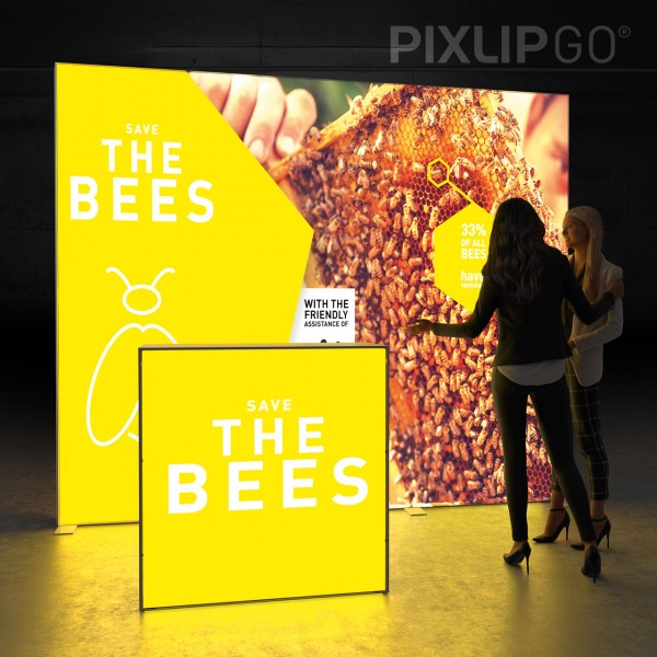 LED Messeset PIXLIP GO STAND HL30 - Kopfstand - 2 x 3 m