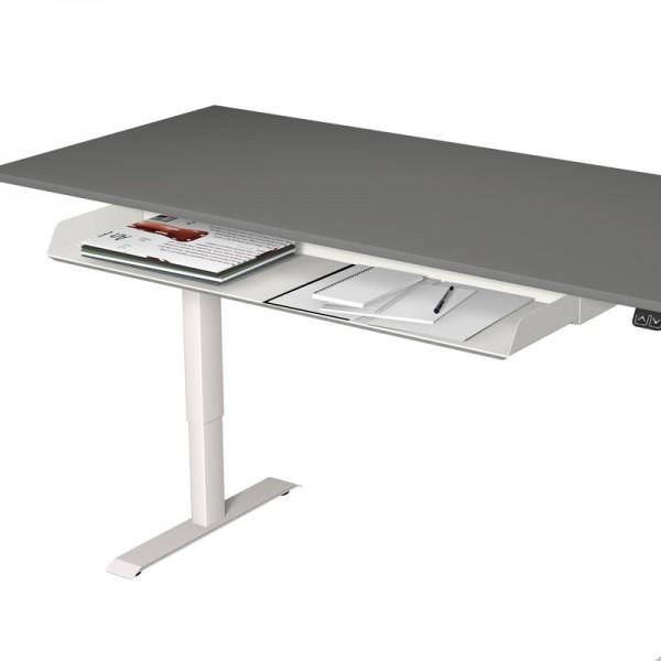 Ablagefach, ausziebar für Steh-Sitztisch