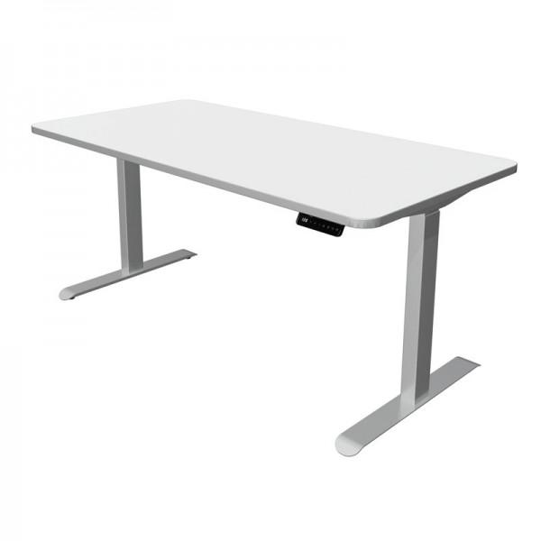 Steh-Sitz-Schreibtisch 160x80cm weiss